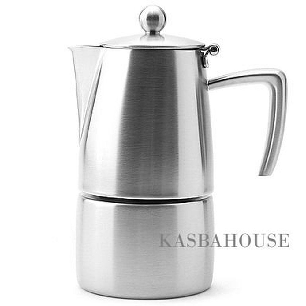 Stainless steel stovetop espresso maker 10 cup - Stovetop Espresso Pots Ilsa Coffee Maker Slancio For Induction Inox 18