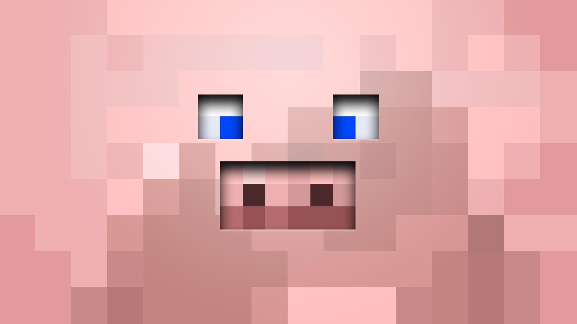 Minecraft Pig Png 1920 1080 Minecraft Pig Face Minecraft Pig Pig Wallpaper