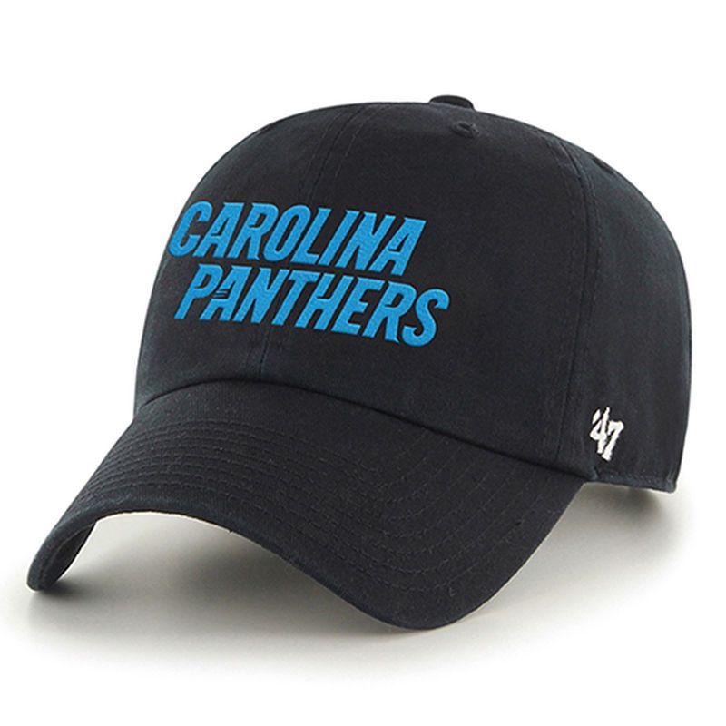 Carolina Panthers  47 Wordmark Clean Up Adjustable Hat - Black ... 4da0dfcba