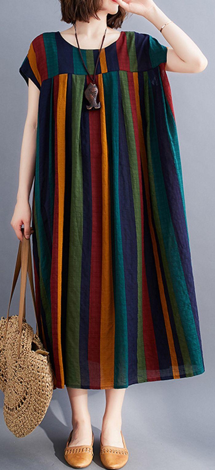 Photo of Unique rainbow clothes o neck large hem Love summer Dresses
