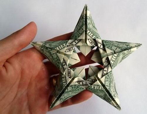 Creative Money Giving Ideas This Star Shaped Fold Looks Pretty