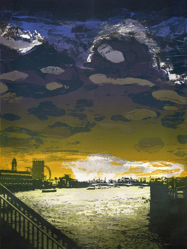 Steve Edwards - etched lino print