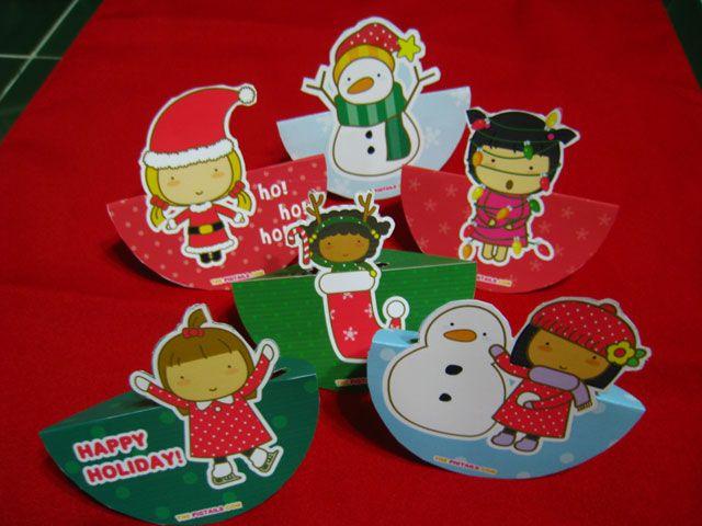 FREE printable Christmas Cards Pigtails by Jazmin Cruz FREE