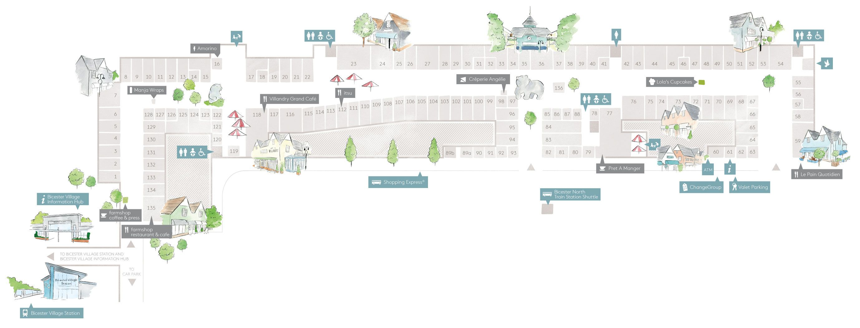 Bicester Village Map Village Map • Bicester Village | icons | Village map, Map, Places Bicester Village Map