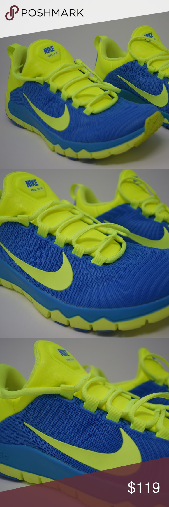 3e1a0716df24 NIKE Free Trainer 5.0 V5 Blue Volt Mens 644671-470 RARE HARD TO FIND Shoe  is in brand new never worn used. Send offers