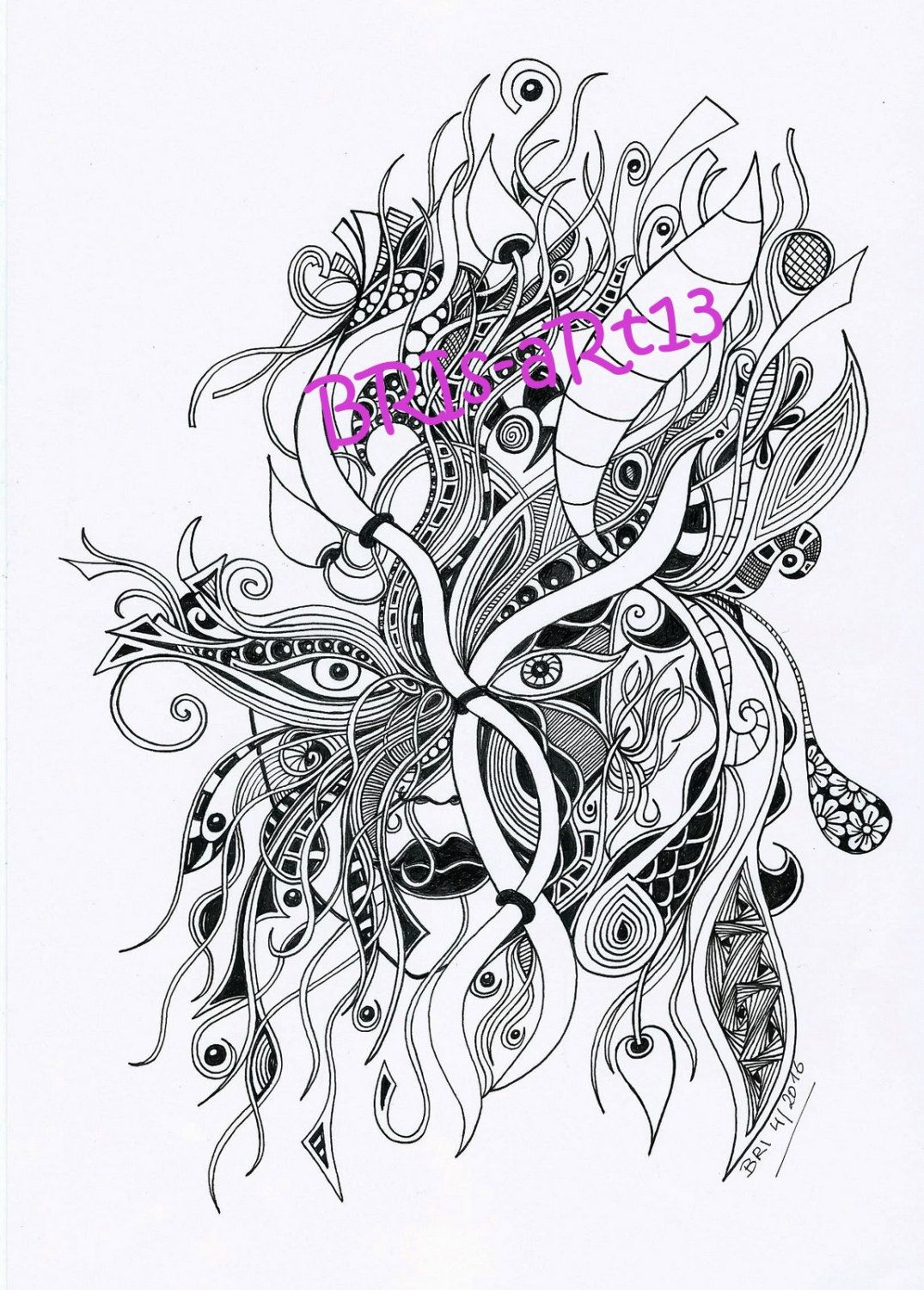 Download Adult coloring ZenZia made by BRI, Zentangles, zendoodle ...