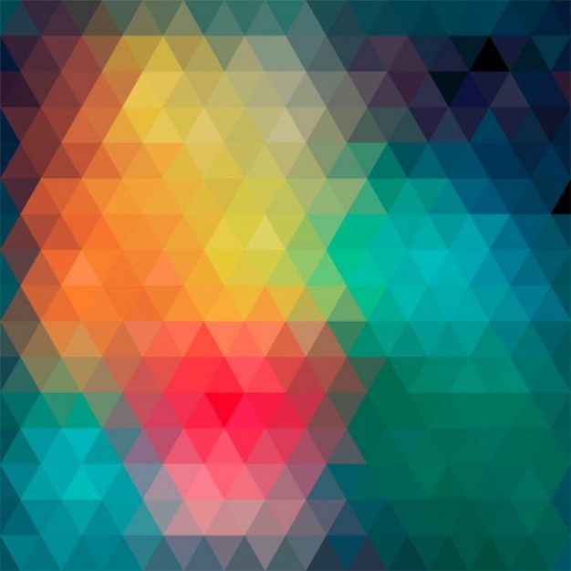 I like triangles and colours, and the blurred effect. abstract background made by colorful triangles.