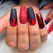 1001 Ideen für tolle und gruselige Halloween-Nägel – #Awesome #Halloween #Ideen …