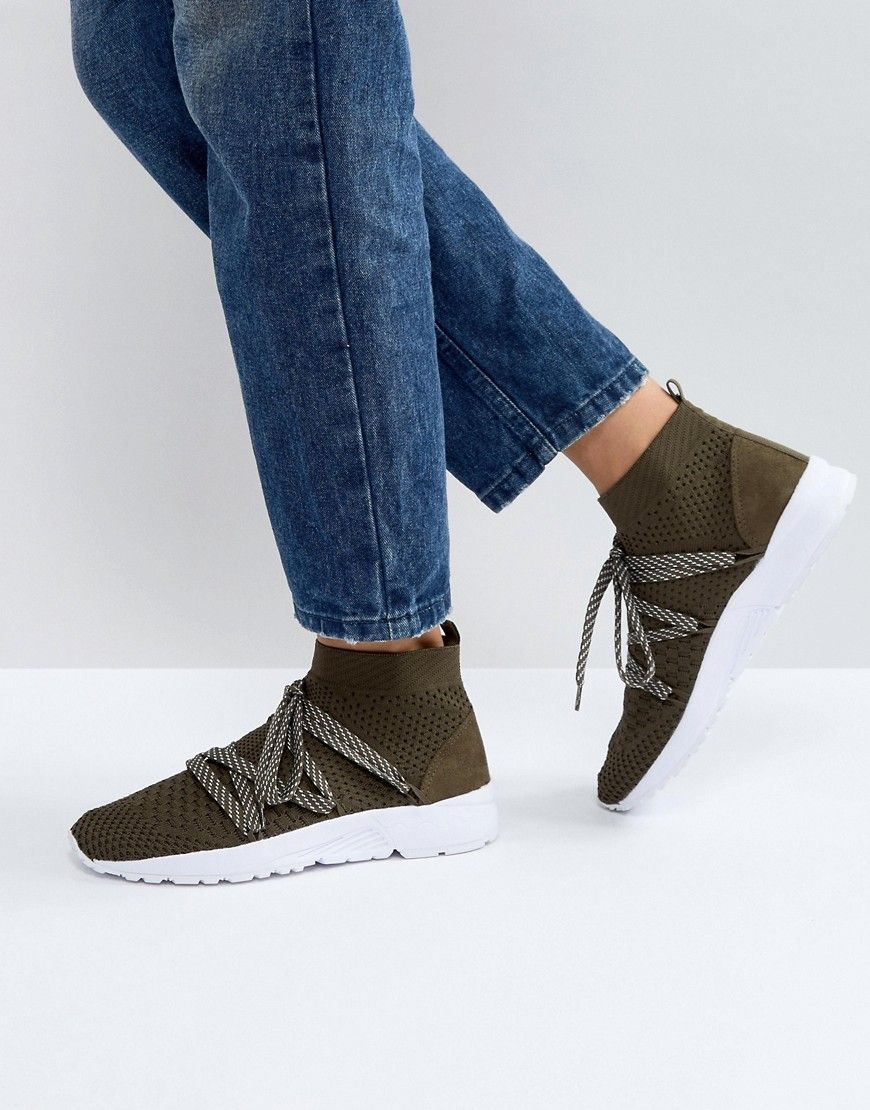 run shoes 50% off preview of ASOS DAWSON Sock Sneakers - Green   Sneakers, Shoes, Latest ...