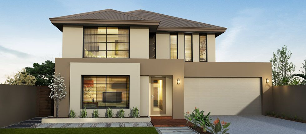Attirant Modern House Exterior Brown Double Storey