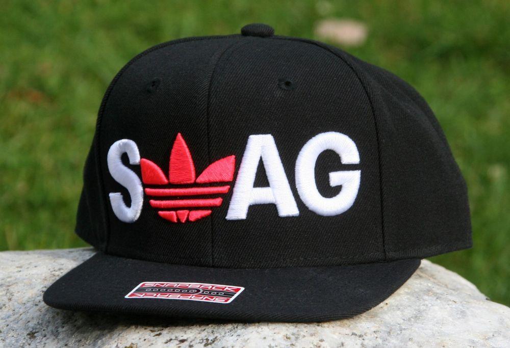 detailed look 974b1 76430 adidas Originals Embroidered  Swag  Mens Snapback Hat Black  adidas   BaseballCap