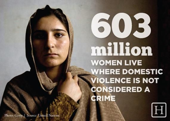 603 million women live where #domesticviolence is not considered a crime. #PTSD #domesticabuse #SexualAssault