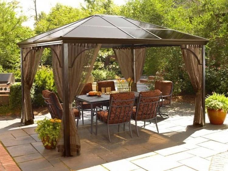 Does Home Depot Assemble Patio Furniture Modern Gazebo Outdoor Gazebo Curtains Backyard Patio
