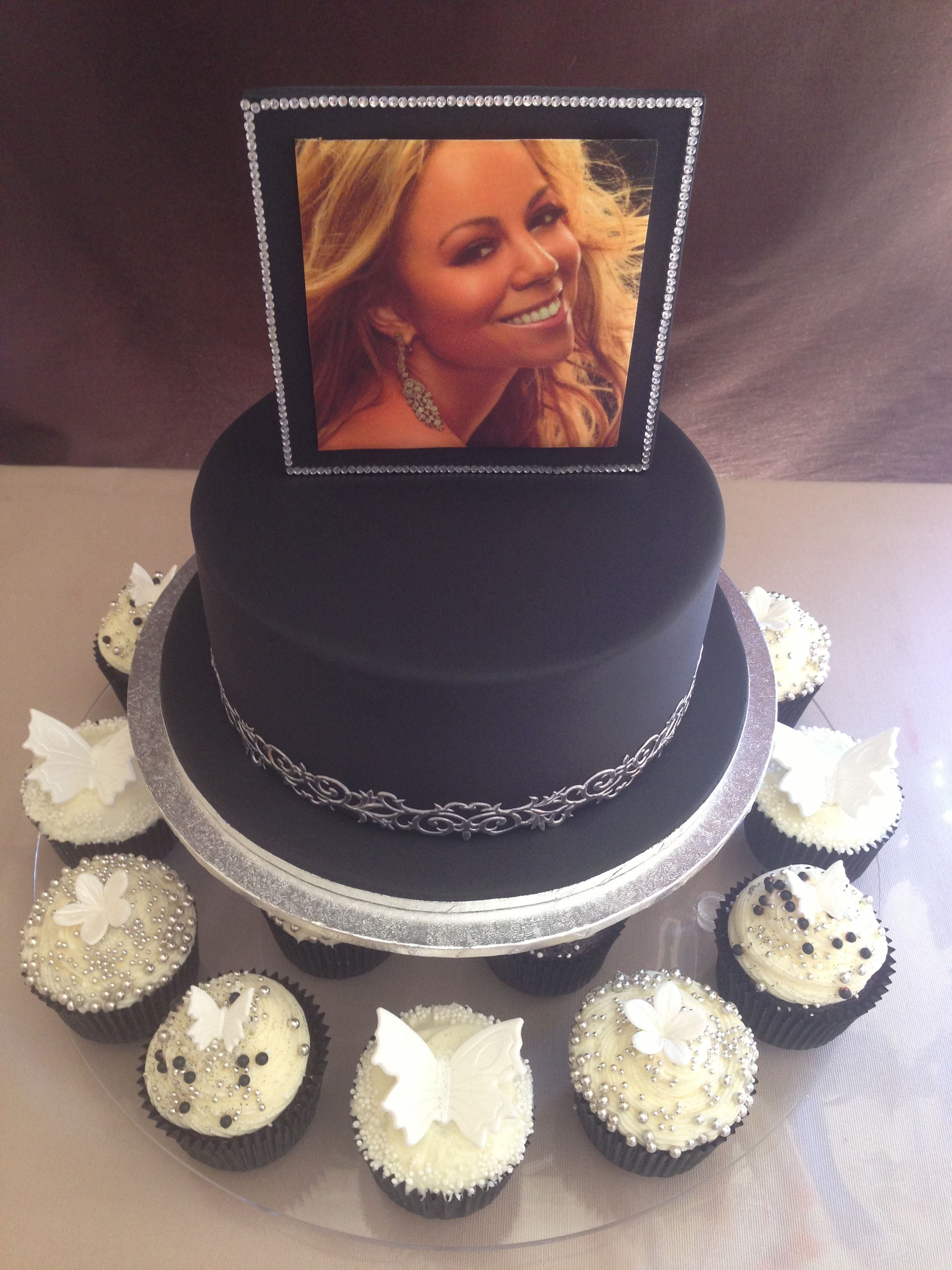 Mariah Carey Inspired Birthday Cake And Cupcakes Ordering For Bday Im Serious