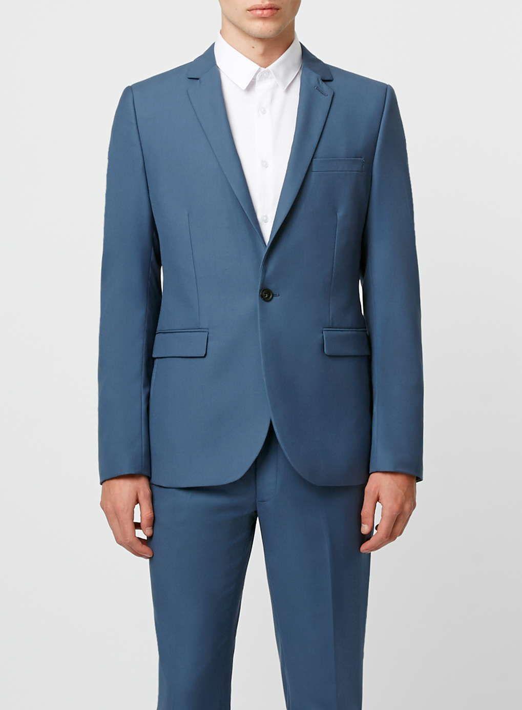 Mid Blue Skinny Fit Suit - Skinny Fit Suits - Suits - TOPMAN ...