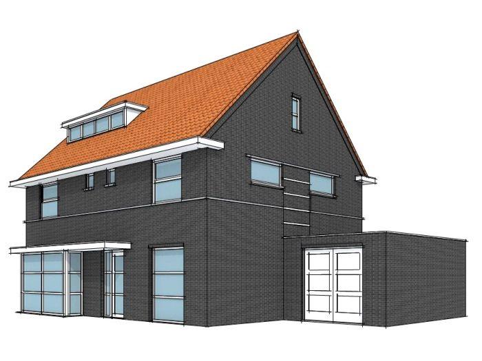 Eigentijds huis in de breedte woonstijl modern eigentijds pinterest - Exterieur ingang eigentijds huis ...