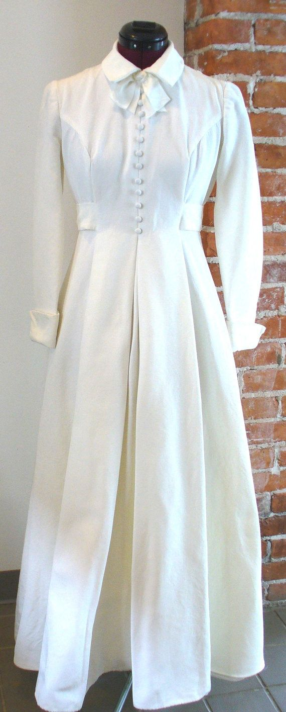 Vintage House Of Bianchi Shirtwaist Wedding Dress