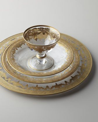 Vetro+Gold+Dinnerware+by+Arte+Italica+at+Neiman+Marcus.