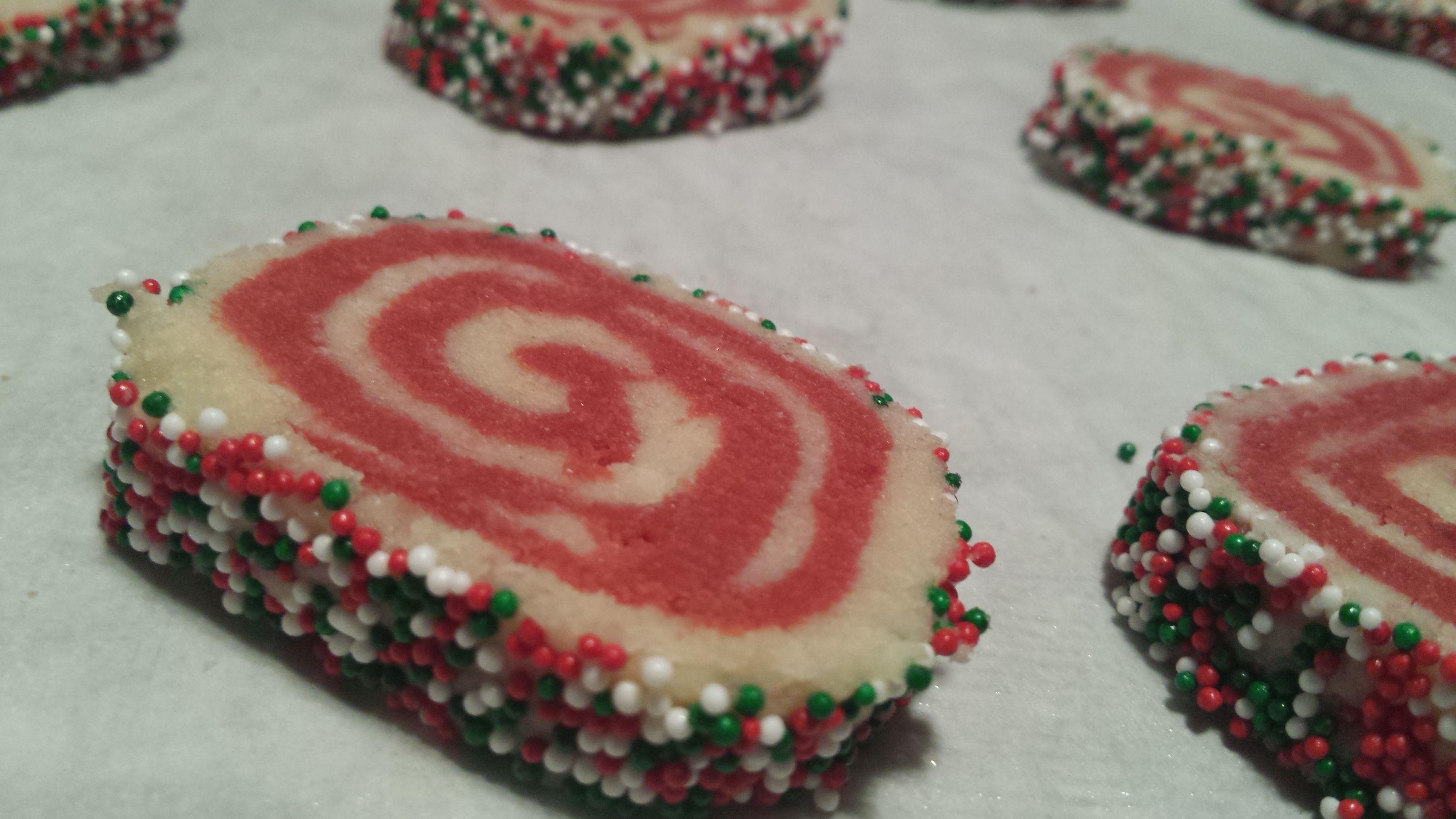 Christmas cookies, swirl cookies