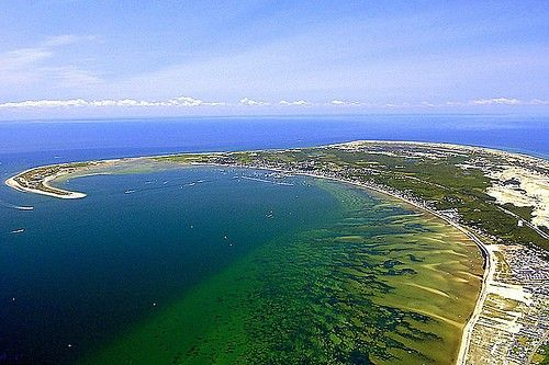 Aerial view of Cape Cod Bay