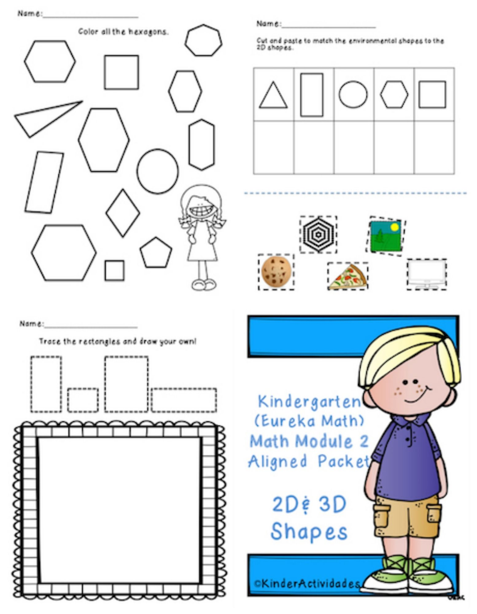 Kindergarten 2d Amp 3d Shapes