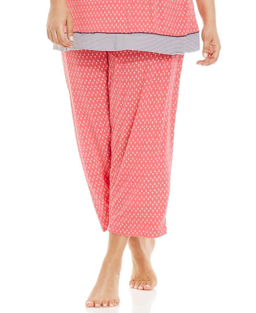 618050457bb3 Ellen Tracy Plus Size Printed Capri Pajama Pants | Products | Pajama ...