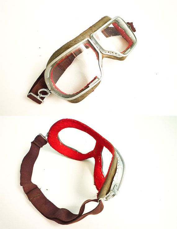 Goggles Pilot Aviator Motorcycle 70s Glasses Deadstock