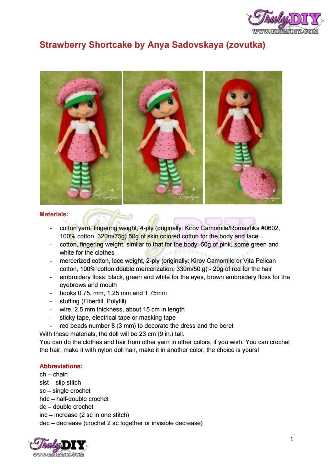 Bb 5 em màu dâu tây strawberry shortcake eng | uncinetto | Pinterest ...