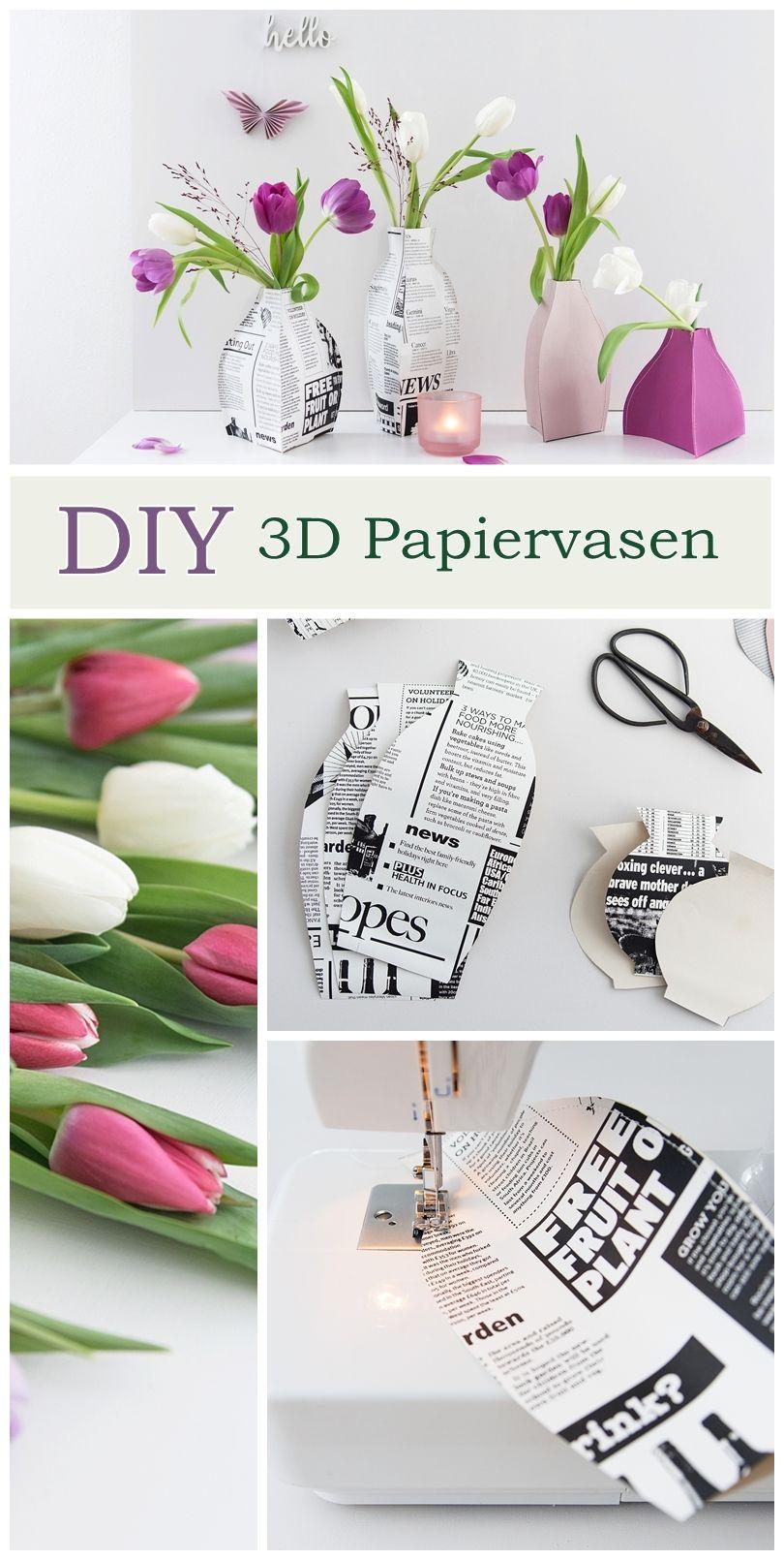 Werbung | Gastbeitrag  So einfach nähst du verschieden große Papiervasen in 3D Optik - die perfekte Lösung, wenn man mal wieder keine passende Vase zur Hand hat. #meinhofer #hoferat #dabinichmirsicher #diy #sinnenrauschdiy #diypaper #getcrafty