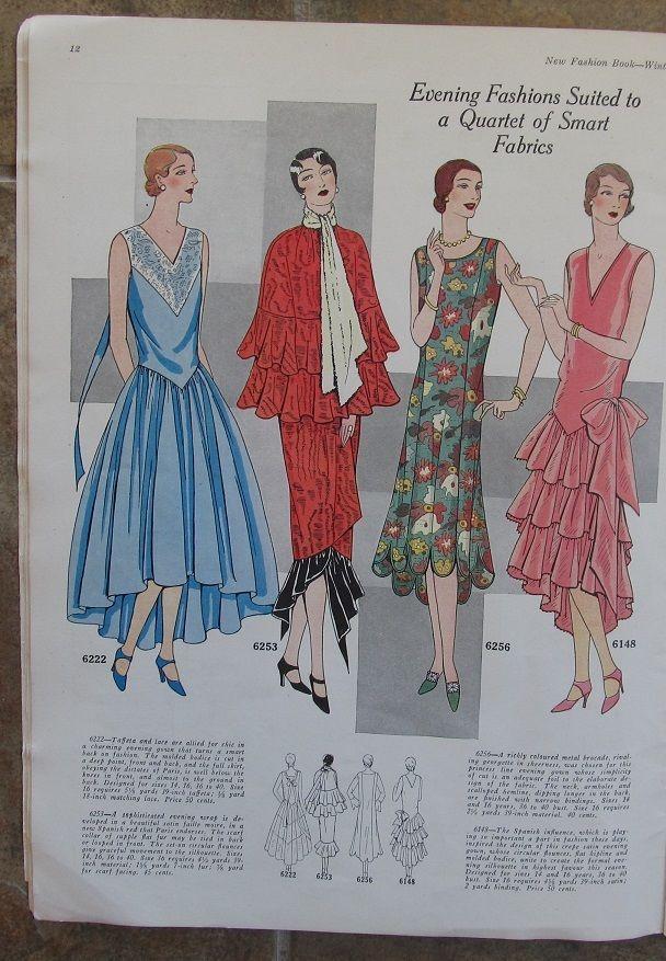 Winter 1929 Ladies Home Journal New Fashion Pattern Book (48 pgs) 1920s Magazine | eBay