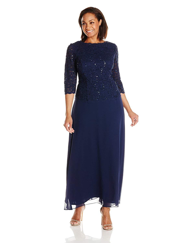 783d89b9067 Alex Evenings Women s Plus Size Tea-Length Lace Mock Dress  Clothing  Alex