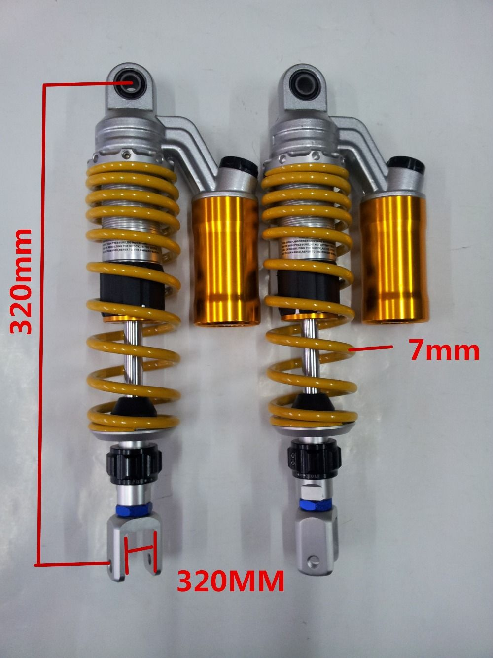 universal 320mm 340mm 360mm 1 pair fork suspension air