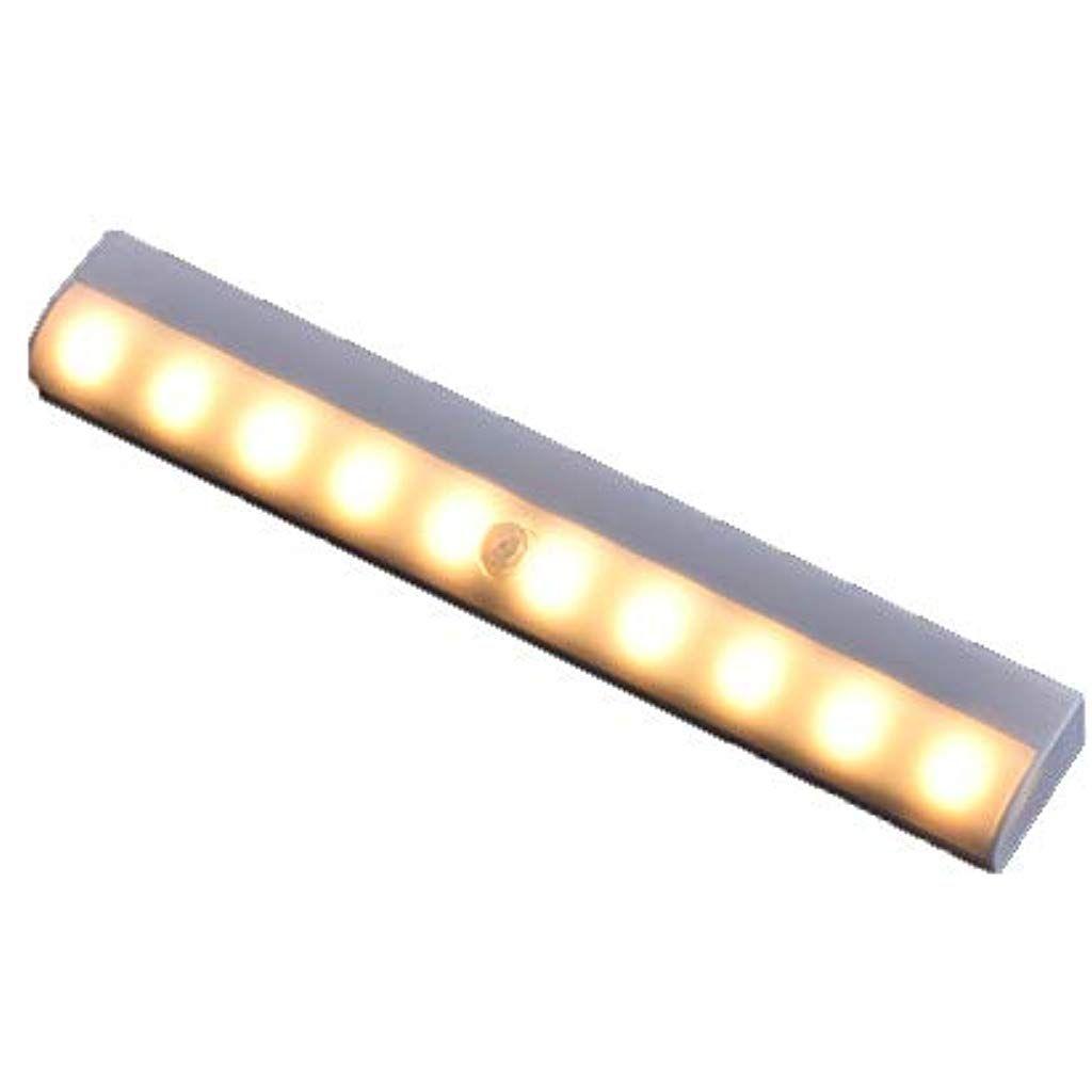 Bewegungssensor Schrank Licht 10 Led Wireless Schrank Nachtlichter Mit Magnetstreifen Aufklebbare Garderobe Schrank S In 2020 Nachtlicht Magnetstreifen Bewegungssensor