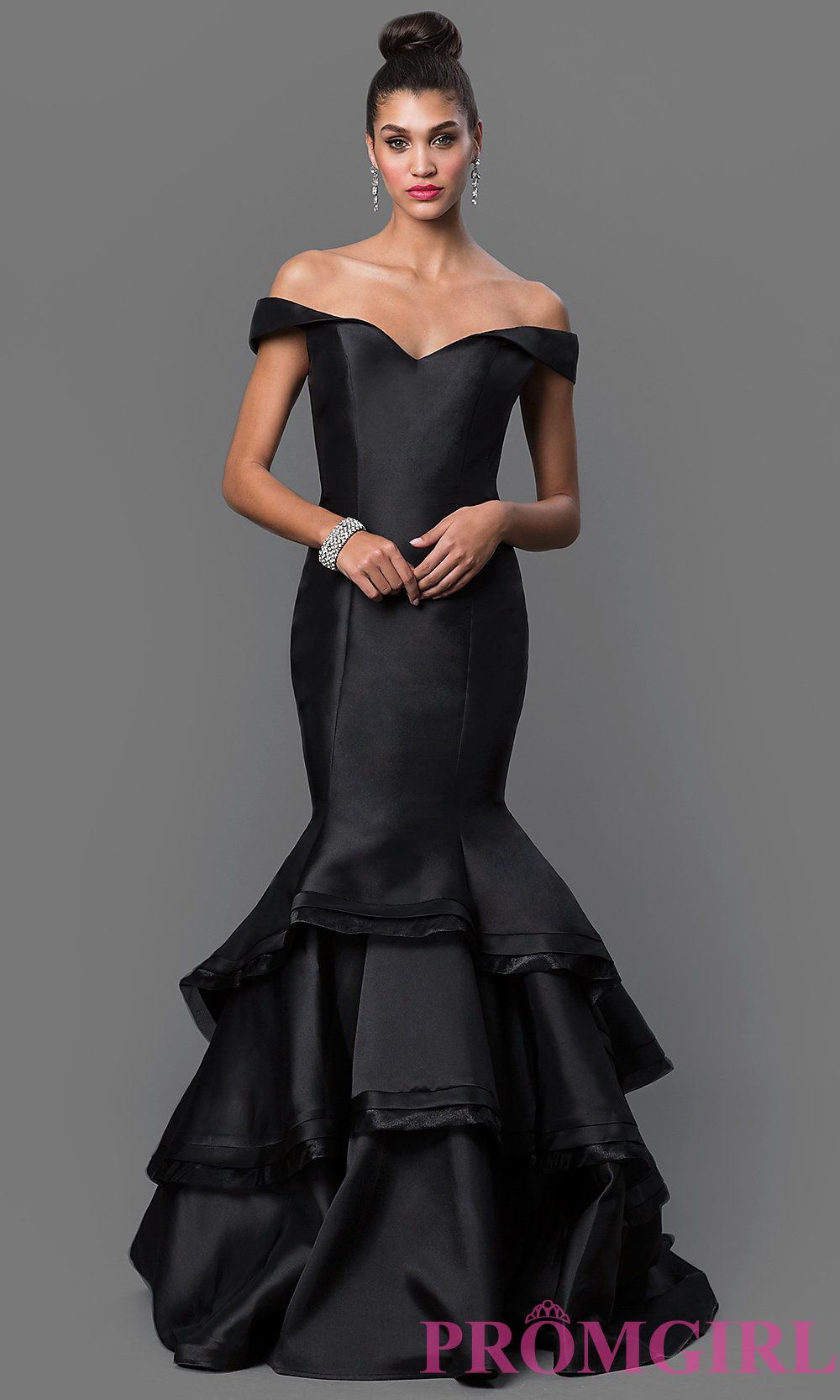 2019 year style- Black jovani mermaid prom dress