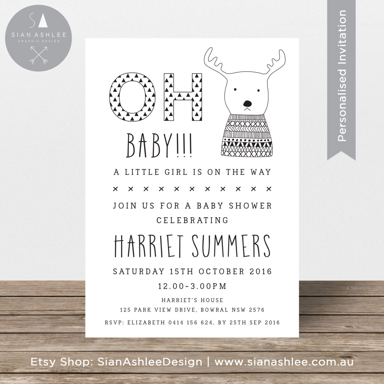 Baby Shower Invitation | Scandinavian Gender Neutral Invite Boy or ...