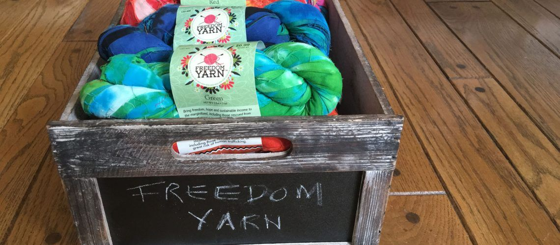Freedom Yarn: Is NOW at Hobby Lobby! Sale of this