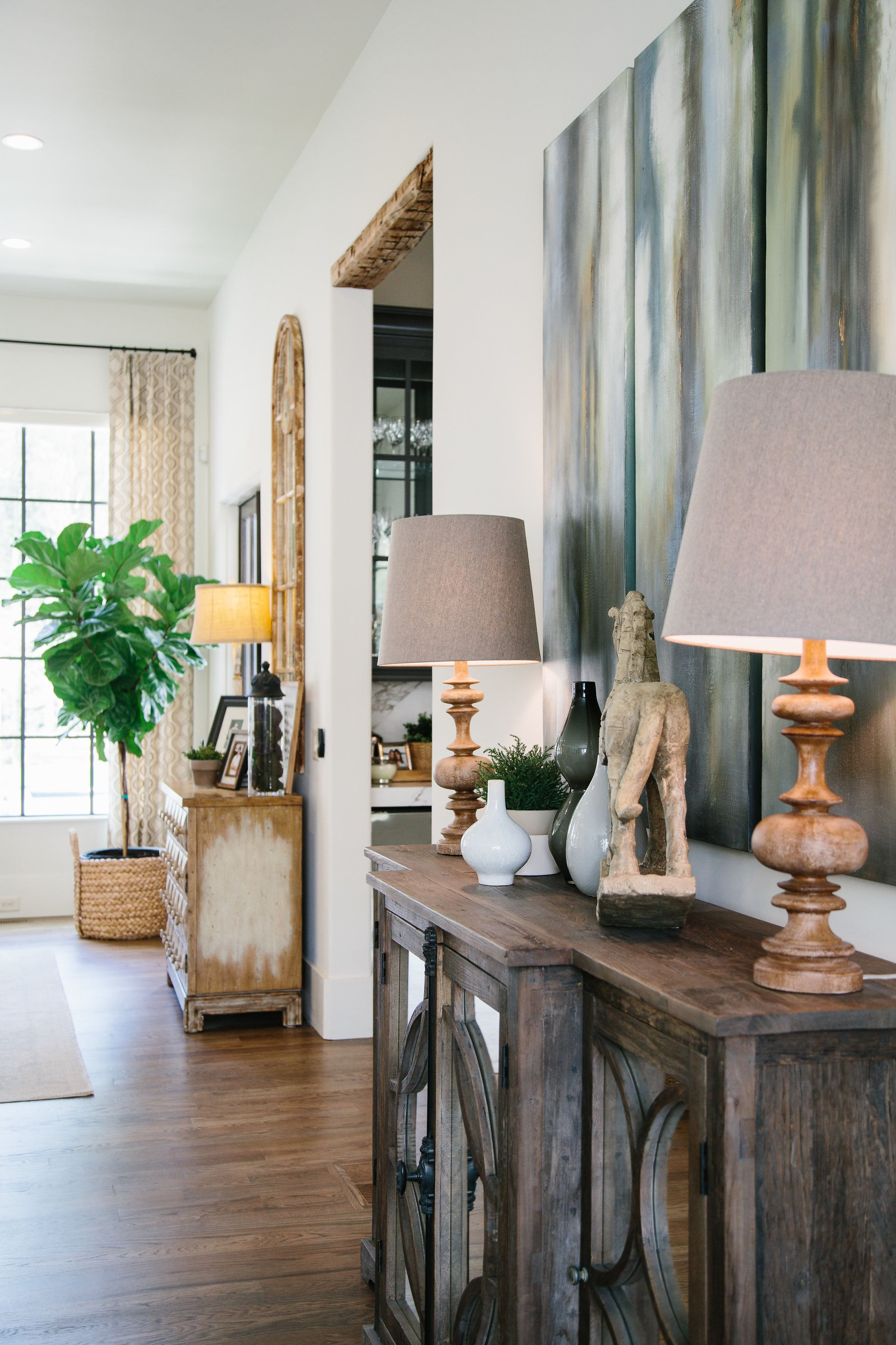 Make Sure To Accessorize Your Credenza Sideboard Or Buffet With Table Lamps Figurines And More Living Room Decor Living Room Decor Modern Room Decor