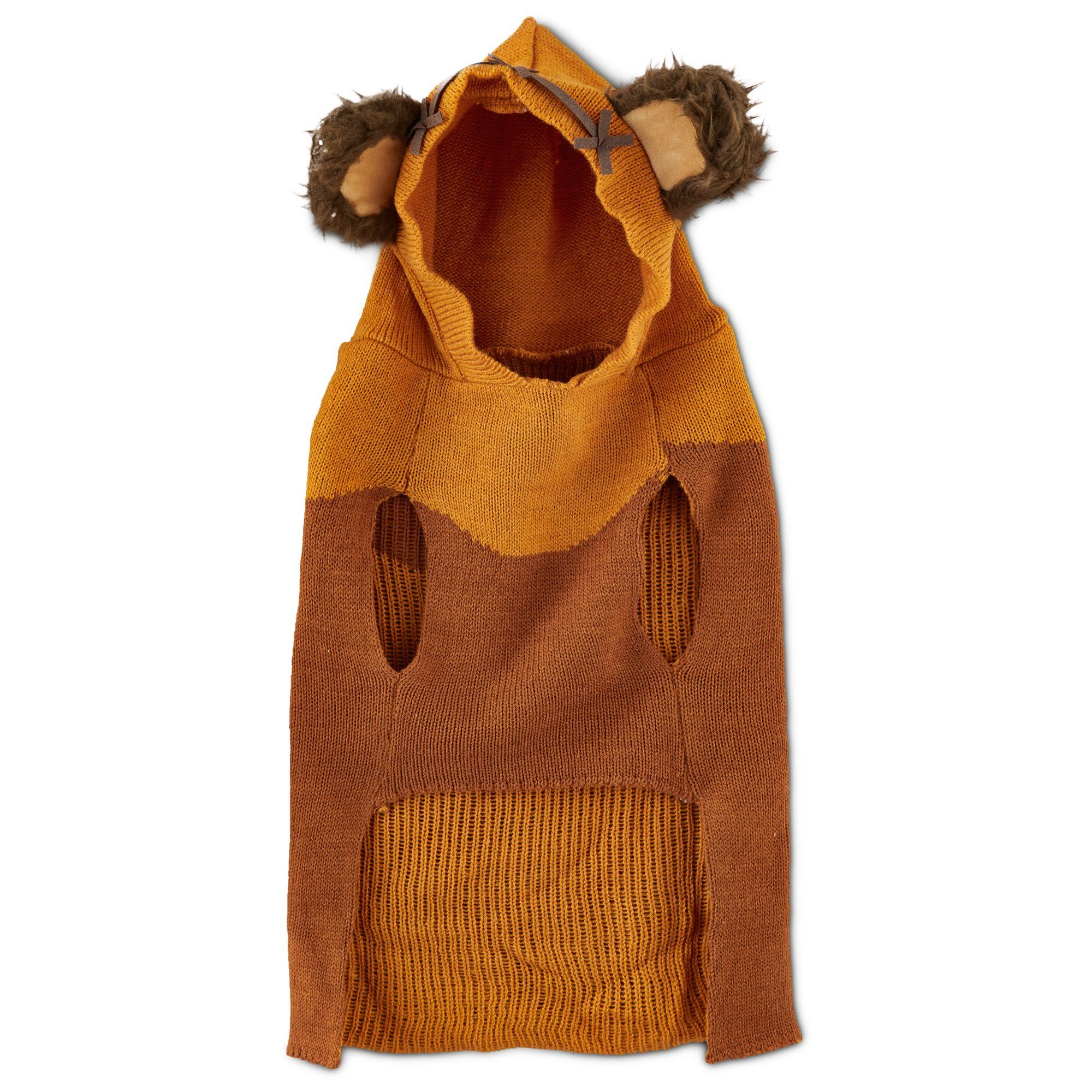 Star Wars Ewok Dog Sweater With Knit Hoodie Dog Ewok Dog - Hoodie will turn you into chewbacca from star wars