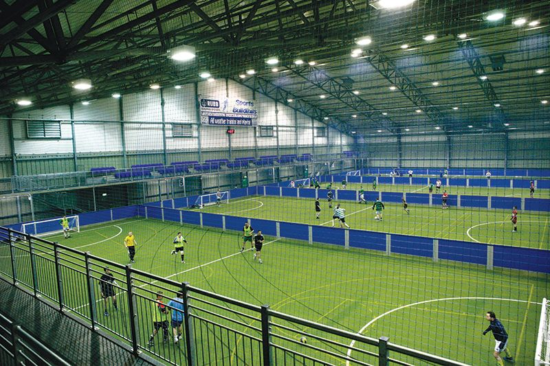 Meadowbank training facility indoor stadium courts for Athletic training facility design