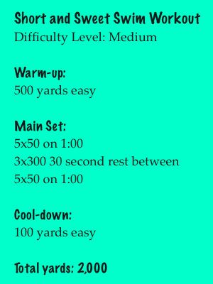 Pin On Swim Workouts