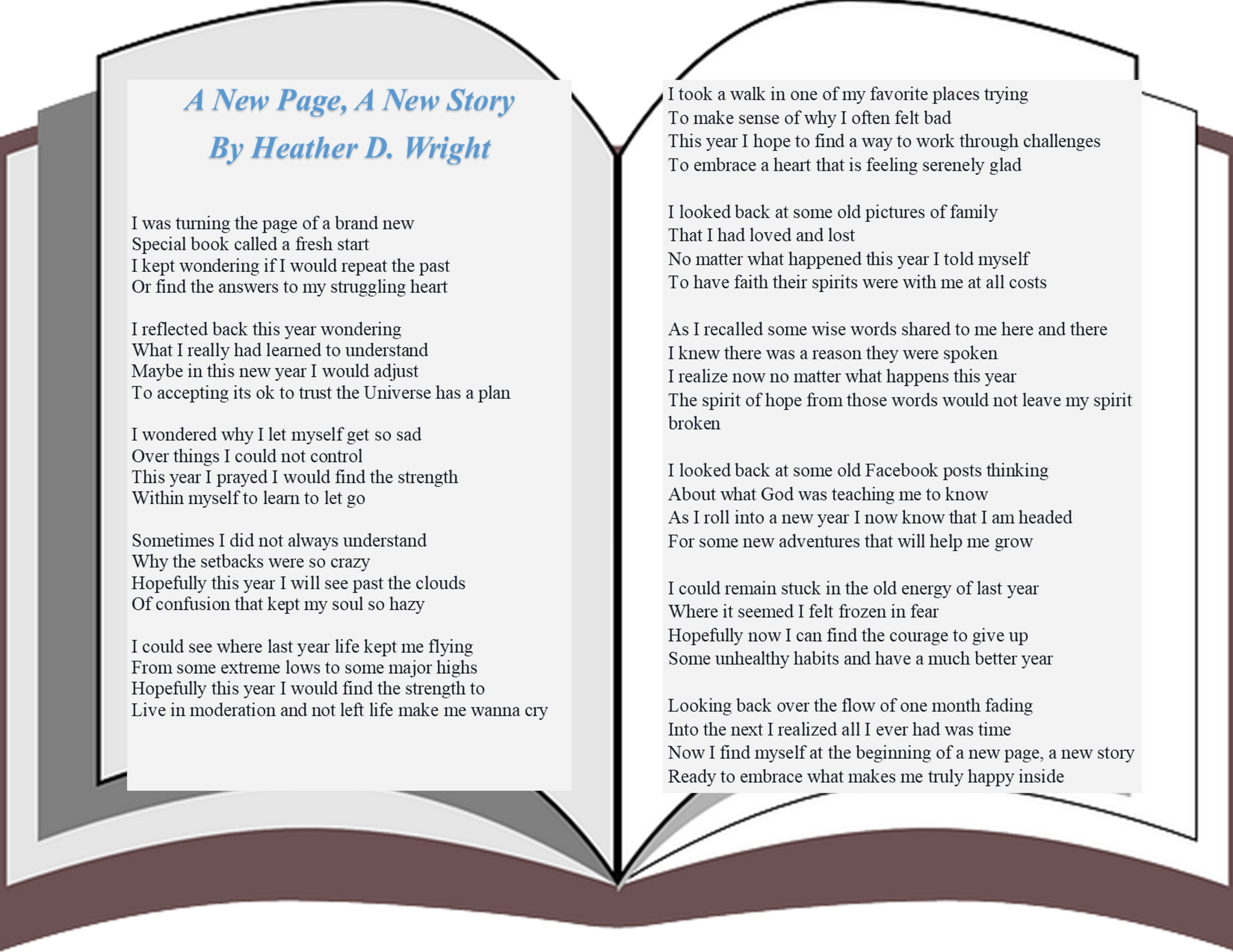 A New Page A New Story Printable Digital Download Story Poems News Stories Poems