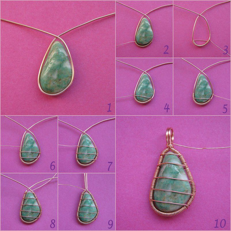 Beautiful looks easy enough wire wrapped stones necklace and beautiful looks easy enough wire wrapped stones necklace andor earrings aloadofball Image collections