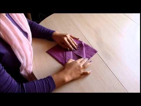 C mo doblar servilletas de papel decorar la mesa - Como decorar la mesa de navidad ...
