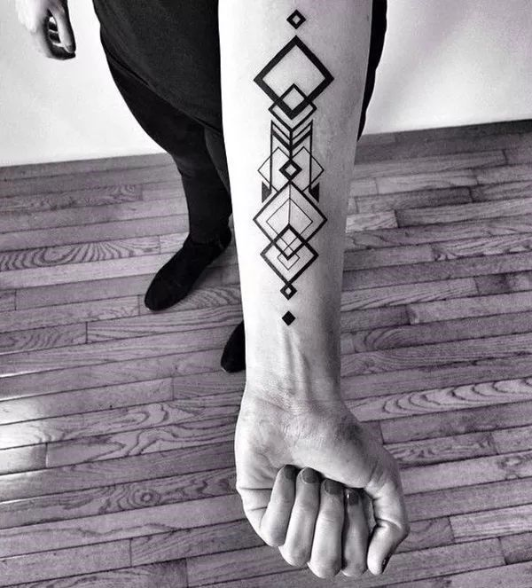Forearm Tattoo Ideas For Men Geometric Pattern Geometric Tattoo Geometric Tattoo Design Geometry Tattoo