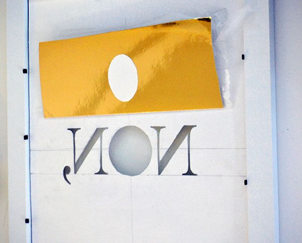 DIY Metallic Print - The Interior Project