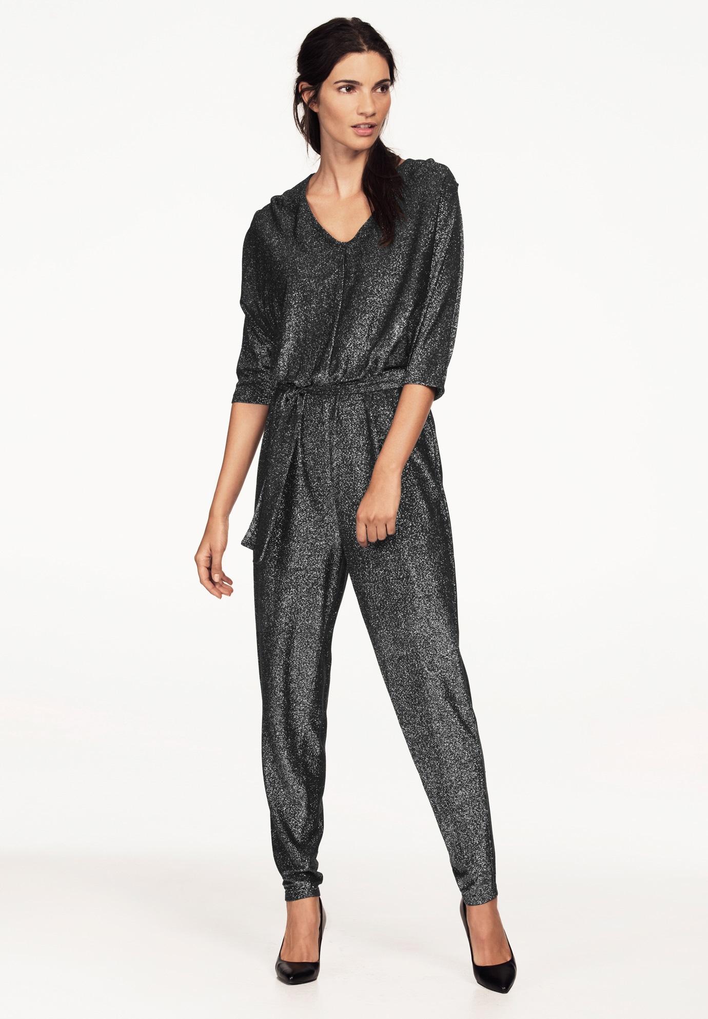 Glitter Knit Jumpsuit By Ellos Women S Plus Size