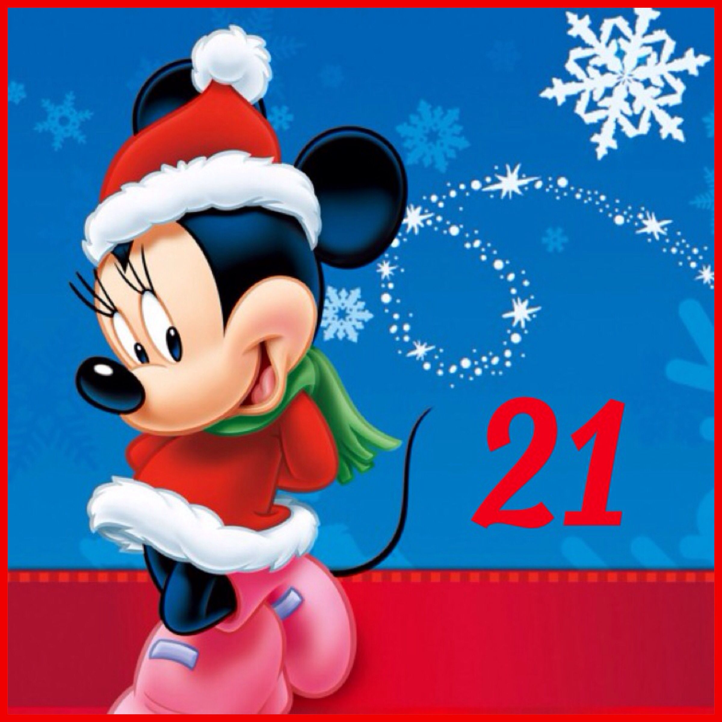21 Days Until Christmas / Minnie Mouse / Christmas