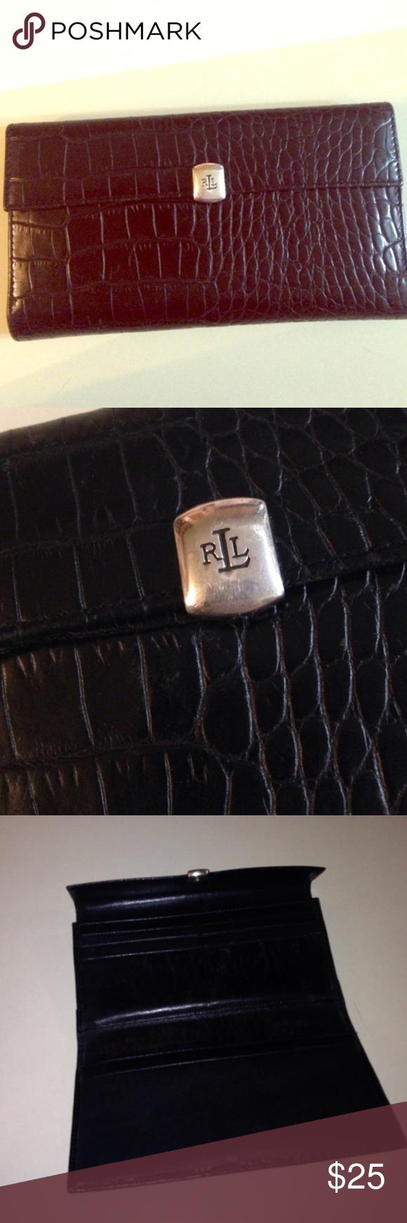 a1c5126db27 RLL wallet Black croc RLL wallet Ralph Lauren Bags Wallets | My Posh ...