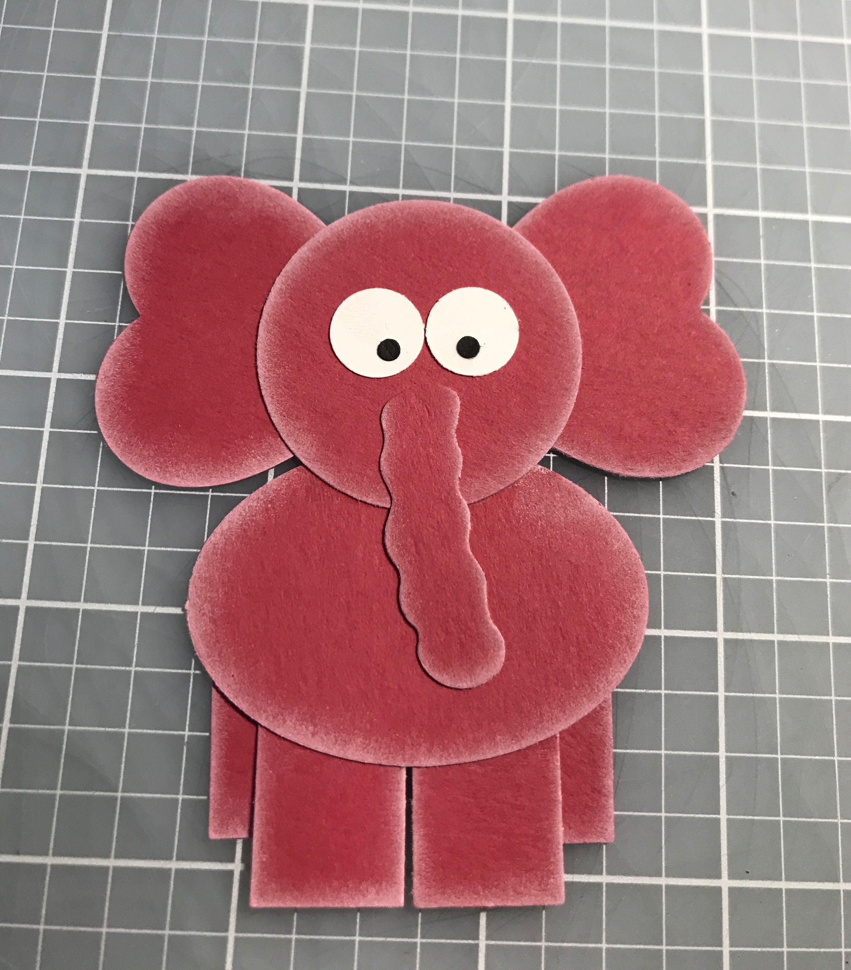 Stampin Up punch elephant SU Oval for body, Owl Builder for eyes ...