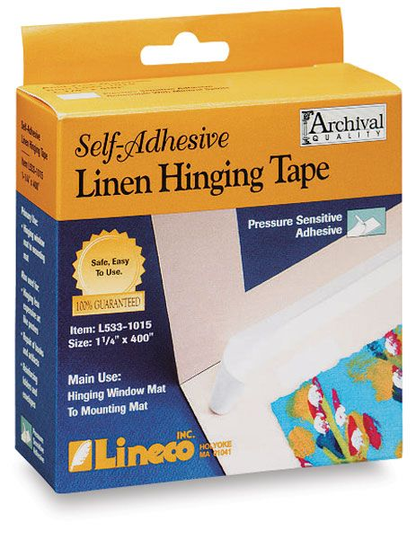 Lineco Self Adhesive Linen Hinging Tape 1 1 4 X 35 Ft Blick Art Materials Tape Adhesive Bookbinding Supplies